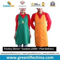 China High quality promotional custom cotton can waist embroidery aprons cheap for advertising on sale