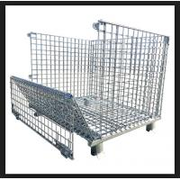 China Silvery Metal Mesh Storage Containers , Q235 Steel Heavy Duty Storage Cages wholesale