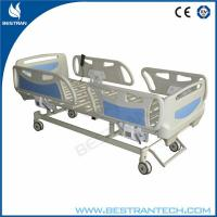China 4 Part Steel Bedboards Electric Hospital Beds Adjustable With Linak Motor wholesale