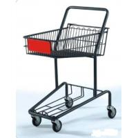 China Heavy Duty Double Basket Shopping Trolley Steel Shop Cart With Baby Seat wholesale
