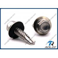 China 410 Stainless Hex Washer Head Self-drilling Roofing Screw w/ EPDM Sealing Washer wholesale