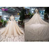 China O - Neck Sleeveless Handmade Bridal Ball Gowns Special Dress For Wedding Function wholesale