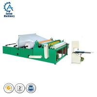 Buy cheap Automatic toilet paper rewinding embossing perforating machine for making toilet from wholesalers