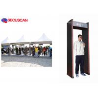 China 6 pinpoint zones walk through metal detector with waterproof for Factories wholesale