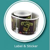 Beverage label sticker customized printing and vinyl sticker printings