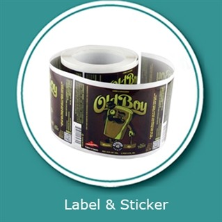 Beverage label sticker customized printing and vinyl sticker printings