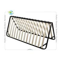 China Folded Metal Slatted Bed Base Frame For King Size / Queen Size Mattrress on sale