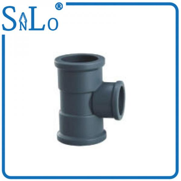 Quality Deep Gray Black Reducing Elbow Tee Pipe Fitting Highway Drainage Supply 40 Mm 50 Mm for sale