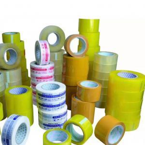China Custom Transparent Bopp Film 48mm Adhesive Custom Logo printed Packing Tape on sale