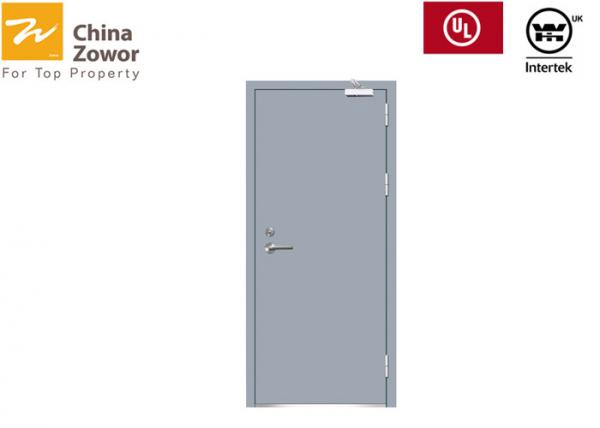 Quality RAL Color Steel Fire Rated Interior Doors Right / Left Handed Open Size 48'' X 96'' for sale
