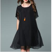 China 2017 summer women clothing chiffon women plus size dresses wholesale