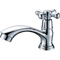 China Brass Chrome Plated Single Cold Water Faucet Basin Tap with One Handle , HN-5A30 on sale