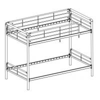 China Bunk bed - Twin ove twin bund bed  for teenager