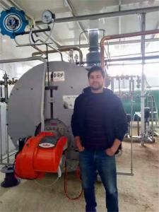 China 105 % Thermal Efficiency Capacity 1 - 3 Ton Industrial Condensing Gas Steam Boiler For Plywood Factory wholesale