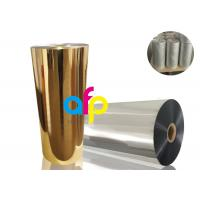 China BOPP Thermal Metalized FilmVarious Color 52 Dynes Double Corona Treatment wholesale