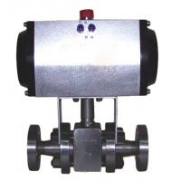 China Pneumatic Ball Valve DN15 2 inch size single acting stainless steel pneumatic ball valve wholesale