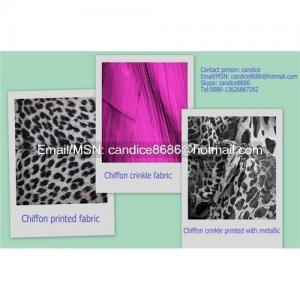China Chiffon printed fabric on sale