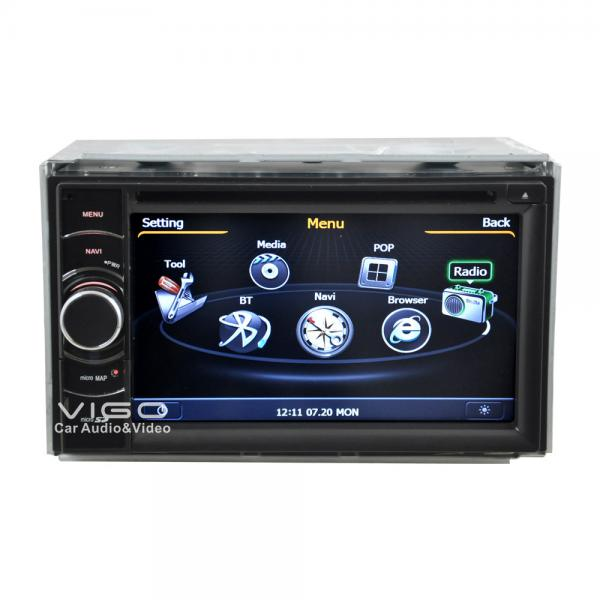 Double din car stereo with bluetooth and navigation