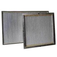 China Extruded aluminum Frame performance air filter HEPA air filter, mini pleat HEPA Box Filters on sale