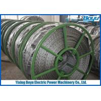 China Breakage Tension 250kN Braided Pilot Wire Rope Transmission Line Stringing 12 Strands wholesale