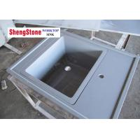 China Grey Marine Sink Epoxy Resin Lab Countertops For Chemical Laboratory wholesale