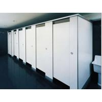 China Gym Bathroom Shower Cubicle Door / White Color Partition wholesale