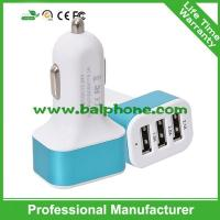 China universal usb car charger 3 usb port car charger usb hub on sale