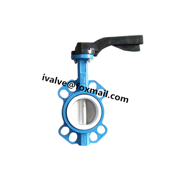 Quality 3 Inch Cast Iron Wafer Butterfly Valve for sale