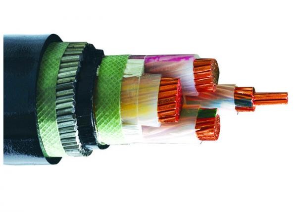 Quality 4 Cores Steel Wire Low Voltage Armoured Electrical Cable Copper  XLPE PVC SWA Cable for sale