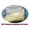 China Propionato esteroide de la testosterona del polvo de la testosterona pura anabólica del 99% para el edificio del músculo wholesale