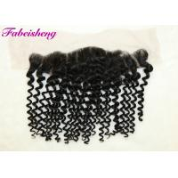 China 8 - 18 Inch Deep Wave Virgin Brazilian Curly Hair Lace Frontal Closure 13x4 wholesale