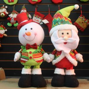 China Xmas Decoration Plush Snowman Toy Christmas Decorations Wholesale wholesale