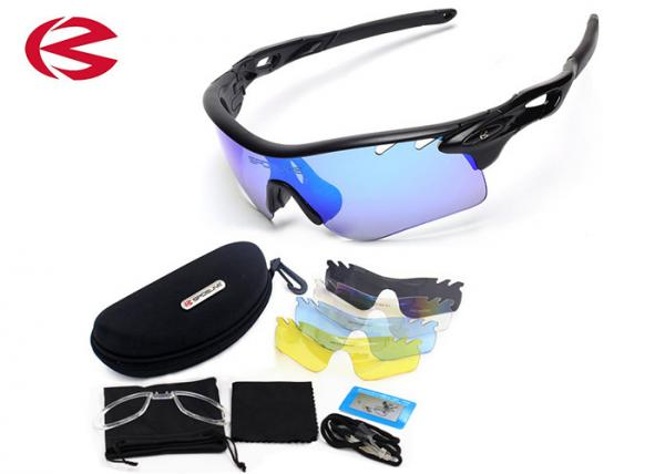 Quality Ultra TR90 Frame Outdoor Sports Sunglasses With Interchangeable Lenses Anti - Scratch for sale