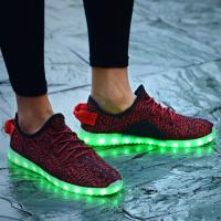 China Top Selling Yeezy LED Casual Shoes Light Up Shoes for Women 2016 wholesale