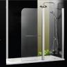 1000 X 1400 Over Bath Folding Shower Screens Frameless Aluminum Alloy Profile