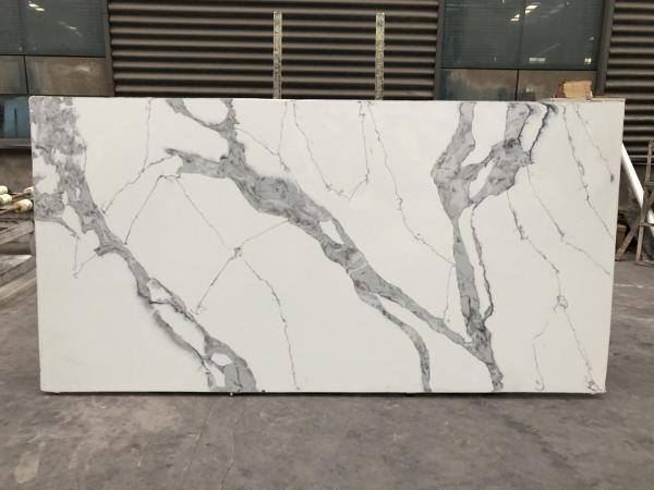 Quality Quartz stone kitchen top Polished Artificial Quartz Stone Quartz Slabs 3200*1600mm for sale