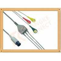 China Generic AAMI 6 Pin ECG Patient Cable 3 Leads Snap IEC For Abbott Medical wholesale