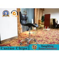 China Anti -  Ultraviolet Casino Gaming Chairs  ,  Modern Mini Fixed Armrest Lifting Rotary Computer Chair wholesale