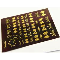 China Gold plating Nail Art Decals Easy DIY Size 63 * 52mm wholesale