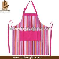 Pretty Blue/Pink Striped Cotton Kitchen Apron Personalised Cooking Aprons