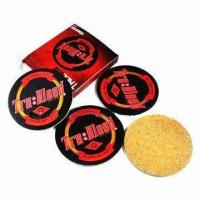 China Cork/ Wooden Coasters with 3 to 5mm Thickness wholesale