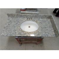 """Santa Cecilia Integrated Vanity Tops 22"""" X 36"""" Light Yellow With Purple Dots"""