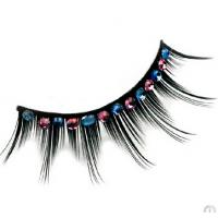 Fashion carnival colorful combined layers synthetic fibre party eyelashes