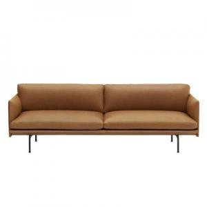 China Nordic Small Leather Loft Three Seat 304 Modern Sectional Sofa wholesale