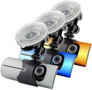 China 2.7 Inch GPS G-Sensor Video Dual Camera Car DVR Wide Angle NTSC With Microphone on sale