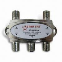 China 4 x 1 Satellite DisEqc Control Signal Switch with 47 to 2,300MHz Bandwidth on sale
