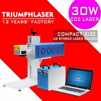 China Triumphlaser 30W 60W RF metal tube Co2 Laser marking machine for Wood Acrylic Leather Rubber ABS Paper PET bottles on sale