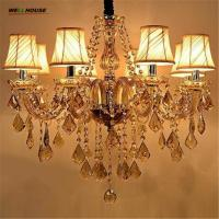 Buy cheap Modern Candle Chandelier Wrought Cognac LED Crystal Chandelier Lighting Fixture Switch Control Hanging Lamp from wholesalers