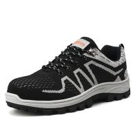 China Cotton Lining Safety Footwear Trainers , Men Sport Style Safety Shoes on sale