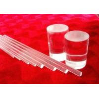 Light Guide Optical Solid Pure Quartz Glass Rod High Strong Hardness
